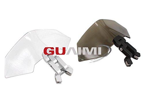 Universal Motorrad Clip-On Windschild Spoiler-Aufsatz Windschutzscheibe Verlänger