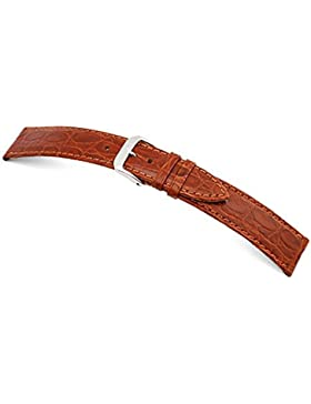 RIOS1931 Uhrenarmband Kroko Calf Rindleder Cognac Bandanstoss 20 mm
