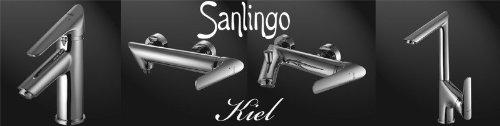 Sanlingo – Designer Badewannenarmatur mit Einhebelmischer, Serie Kiel, Chrom - 3