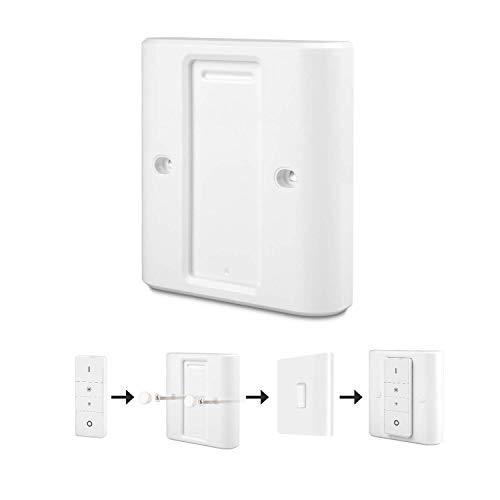 Lichtschalter Abdeckung für Philips Hue Wireless Dimming Schalter, Besteht komplett aus vorhandenen Lichtschaltern und ist einfach zu installieren, Geeignet für EU-Standardschalter