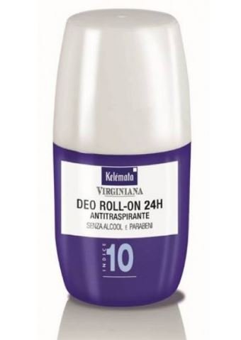 Kelemata Virginiana Deodorante Roll On 24h Antitraspirante Indice 10 50 ml