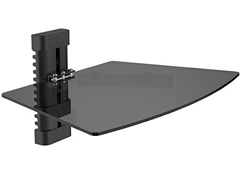 DRALL INSTRUMENTS Ablage DVD/Bluray Media Player Wandhalterung Halter Receiver Kabelkanal Halterung Modell: L93B (Bluray-player Wandhalterung)