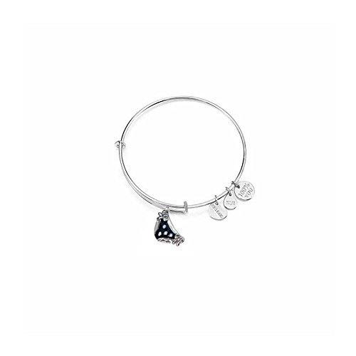 Kulto bracciale da donna rigido in acciaio placcato argento con ciondolo accessories kk091-1200
