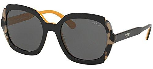 Ray-Ban Damen 0PR 16US Sonnenbrille, Schwarz (Black Azure/Spotted Brown), 54