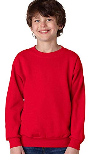 Hanes Youth ComfortBlend?« EcoSmart?« Crew Neck - Deep Red - M -