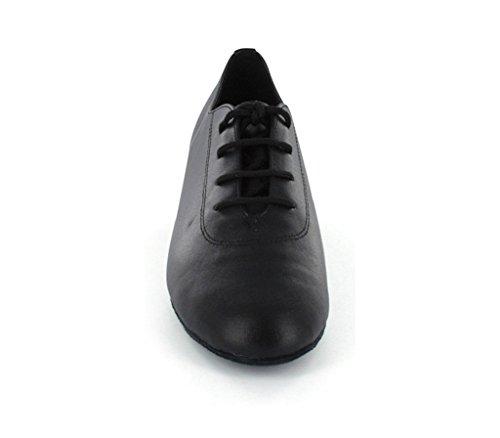 Minitoo da uomo elegante in pelle a punta rotonda sala da ballo latino scarpe da ballo Black