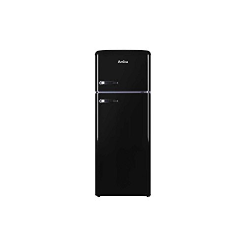 31sCNP%2BwF8L. SS500  - Amica FDR2213 Fridge Freezer Retro Style Freestanding 164 Litre 55cm Wide A+ Energy Rating 40dB Noise Level Net Fridge Capacity