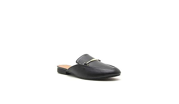 EIGHT EIGHTEEN Women/'s Cute Closed Toe Mules Slip On Flat Backless Slides