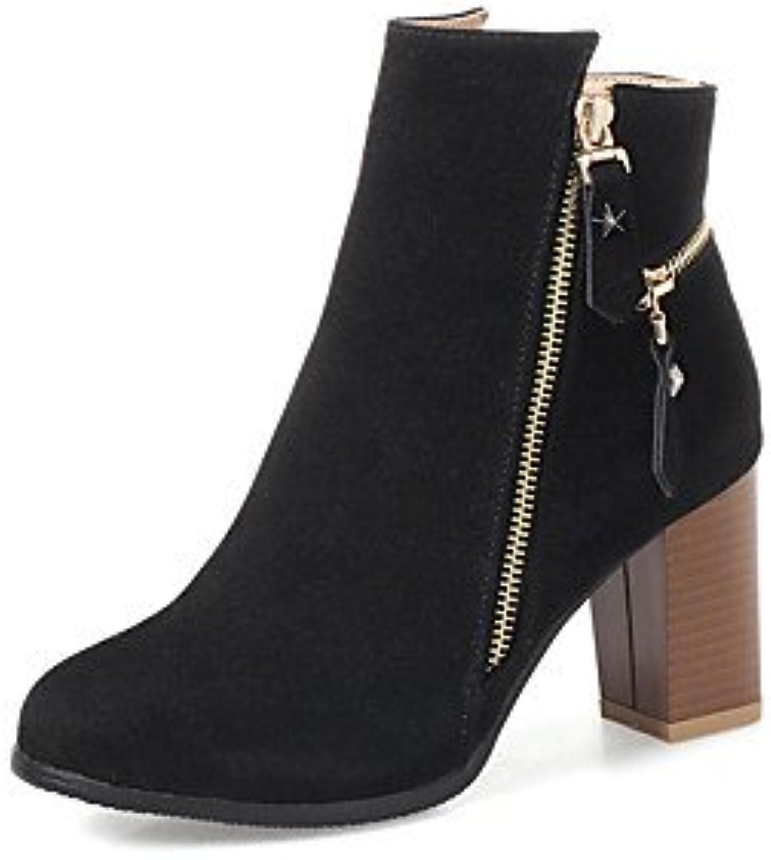 Wuyulunbi@ Comodidad Botas Zapatos De Mujer Invierno Parte Casual Y Traje De Noche Comodidad Zipper Chunky Talón...