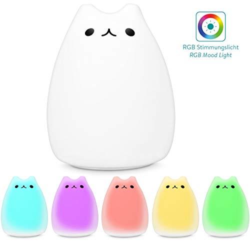 Navaris - Home & Living - Atractivo / ÚtilLa luz LED de Navaris hará que tus hijos pasen muy bien la noche.ILUMINACIÓNGracias al modo de cambio de color continuo, la luz con diseño de gato permite que tu hijo se duerma tranquilamente.FUNCIONAMIEN...