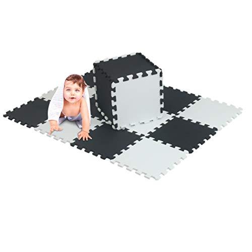 xmtmmd Life Soft Play Mats für Kinder Pure Colour EVA-Schaum Mats Bodenbelag jiasaw Puzzle Mats 18PCS AM106110G301018