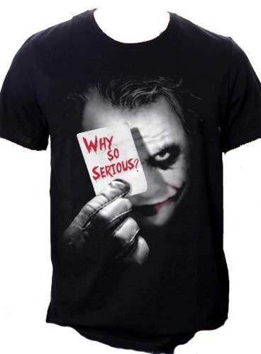 Batman Joker Why So Serious T-shirt, Noir, Large...
