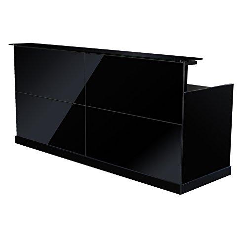 Jet-Line Empfangstheke Zürs in schwarz hochglanz Büromöbel Aussstattung Empfangsmöbel