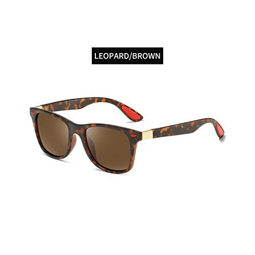 Sportbrillen, Angeln Golfbrille,BRAND DESIGN Classic Polarisiert Sunglasses Men Women Driving Square Frame Sun Glasses Male Goggle UV400 Gafas De Sol Sun Glasses C4