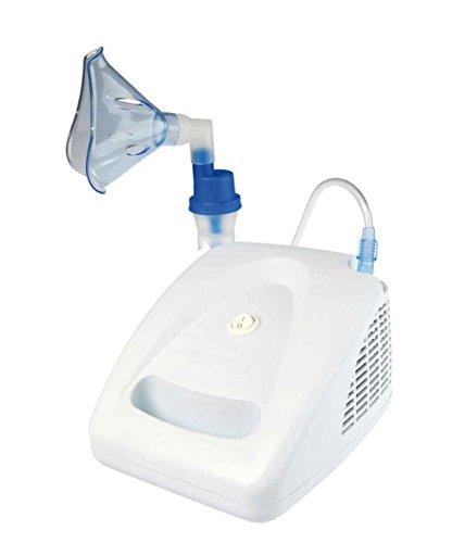PHILmed elektrischer Inhalator/ Inhalationsgerät Midineb Nebby mit Kindermaske - Geeignet für Babys, Kinder und Erwachsene für die gezielte Behandlung der oberen und unteren Atemwege