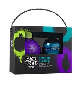 Tigi Bed Head Twisted Texture XMas Set-Small Talk Thickifier 200ml & Hard To Get Texturizing Paste 42g (Small Bed Talk Thickifier Head)