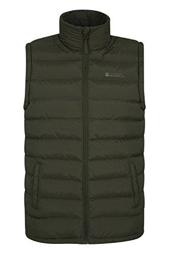 Mountain Warehouse Seasons Gepolsterte Weste - Wasserbeständig, warm, leichte Jacke mit Zwei Fronttaschen, leicht zu verstauender Mantel - Ideal für Reisen im Winter Khaki Small