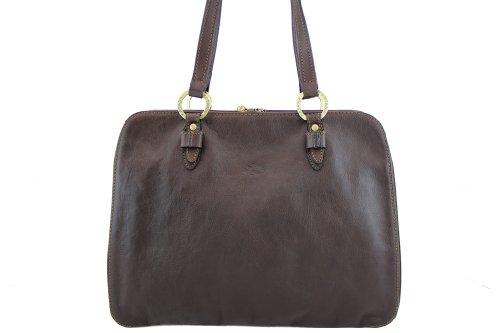 Sac shopping Katana en cuir de Vachette gras K 32596 Noir