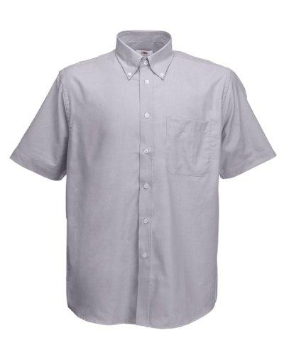 Fruit Of The Loom Oxford Kurzarm Hemd Oxford Grau 3XL [Kleid]