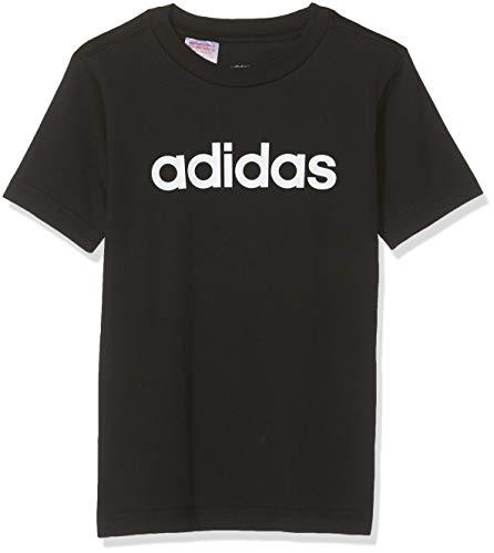 Adidas youth boys essentials linear t-shirt, maglietta bambino, nero (black/white), 152