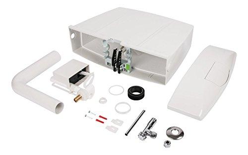 Spülkasten Karat | Kunststoff | 2 Mengen Spültechnik | 3,5 Liter oder 6 - 9 Liter | Tiefspülkasten | WC, Toilette | Weiß