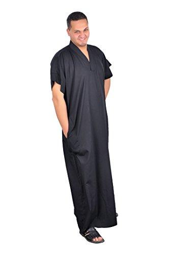 Egypt Bazar Eleganter Herren-Kaftan aus 1001er Nacht, Farbe: schwarz ((44-46) S)
