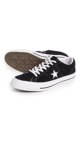 Converse One Star Ox Homme Baskets Mode Noir Noir
