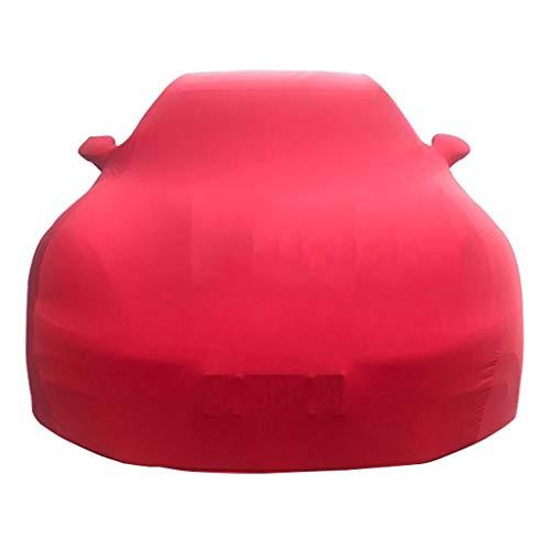 Car Cover Compatibile con Toyota Alphard Prius Toyota 86 ad Alta Elasticità Coperchio di Protezione Antipolvere Elastico Panno for Auto Show Copertura dell'automobile (Color : Red, Size : Tundra)