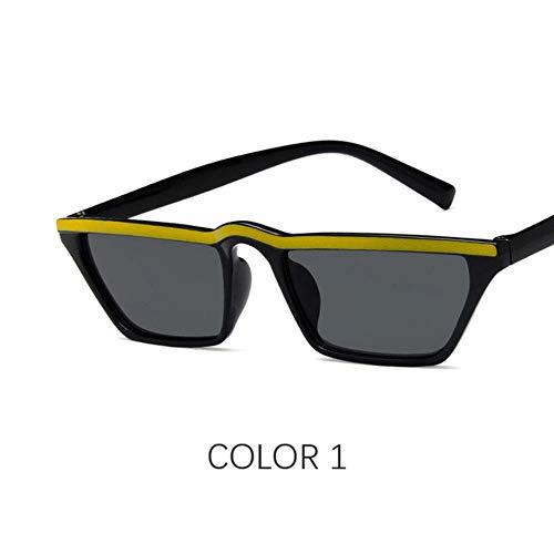 Loving Bird Liebevoller Vogel Retro Cat Eye Sonnenbrille Frauen Markendesigner Brille Kleine Schattierungen für Frauen Schwarz Sommer Cateye Sonnenbrille Damen UV400, Farbe 1