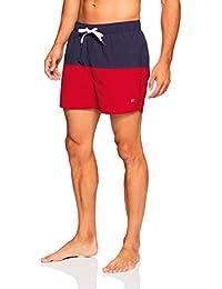 ffb8ab8462b075 Tommy Hilfiger Men s Swimming Shorts Navy Blazer Tango Red