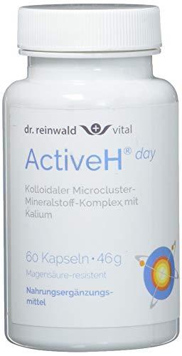 Energie Nahrungsergänzungsmittel 60 Kapseln (dr.reinwald Active H day - Nahrungsergänzungsmittel mit anregendem Kalium, Zink & Vitamin B6 für den Tag - Für die Zell-Energie & gegen oxidativen Stress - 60 Kapseln)