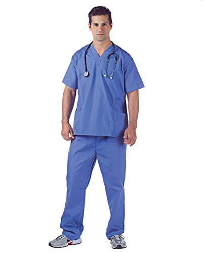 Horror-Shop Hospital Scrubs Arztkostüm für Fasching &