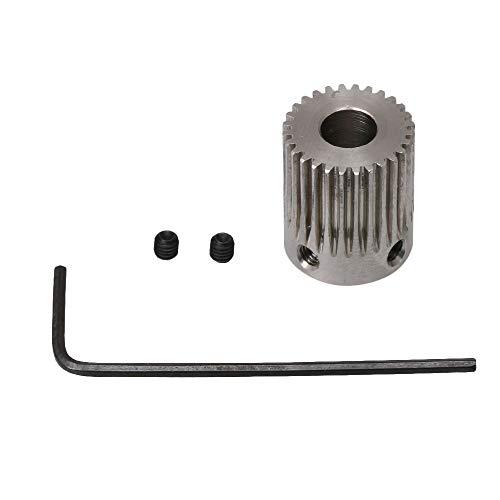 Yibuy Motor silbernes Metallgetriebe mit 2 Schrauben, 28³Ý6.35mm