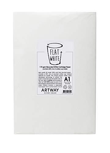 Artway Flat White carta spessa da disegno 100% riciclata 170 g/m² A1 100 fogli