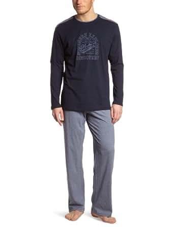 Schiesser Herren Pyjama 135644-816, Gr. 50 (M), Blau (816-jeansblau)