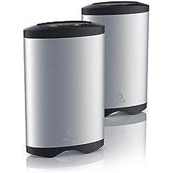Aplic – 2 Chauffe-Mains Rechargeable USB + Powerbank | 5200mA | Chargeurs pour iphone ipad Smartphone Android etc. |on/Off | Aluminium + Plastique | Format de Poche