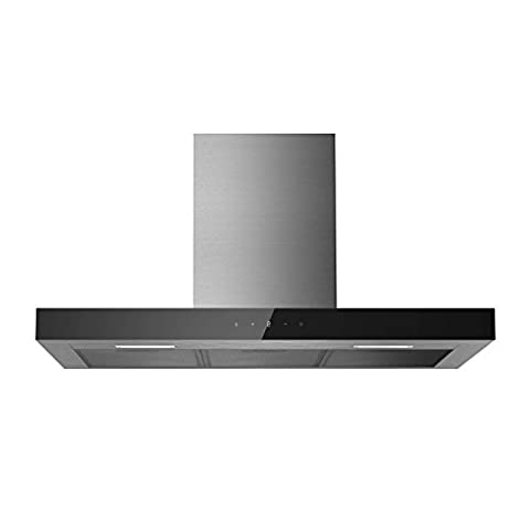 electriQ 90cm Slimline Touch Control Stainless Steel Chimney Cooker Hood -5 Years Parts and 2 Years Labour