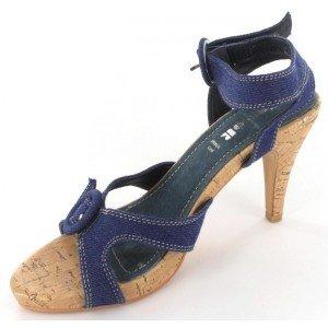 Top or - Sandales femme bleues - 1019-7 Bleu