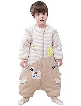 Chilsuessy Winter Baby Schlafsack mit Beinen und abnehmbaren Ärmeln Kleinkind Strampler Schlafanzug Baumwolle...