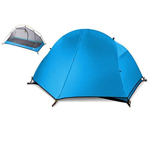 WUZHENG Campingzelt, Leichtes Und Tragbares Außenzelt, Wasser- Und Winddichtes Sonnenschutzzelt,Blue