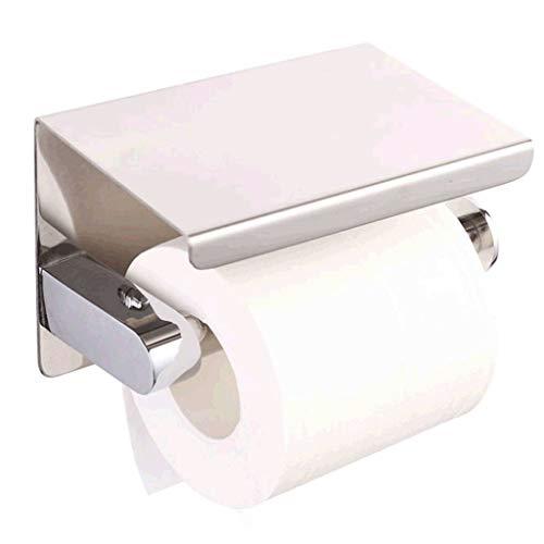 Rostfreier Stahl Toilettenpapierhalter, Wandmontage Rollenhalter Lagerung Händler mit Regal Rutschfest Handtuchhalter Geeignet für Das Badezimmer Küche Wohn und Schlafzimmer -Helles Licht