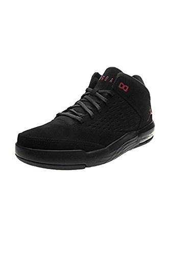 Jordan Herren Flight Origin 4 Fitnessschuhe, Schwarz (Black/Gym Red 002), 42.5 EU - Nike Herren Flight Basketball-schuhe