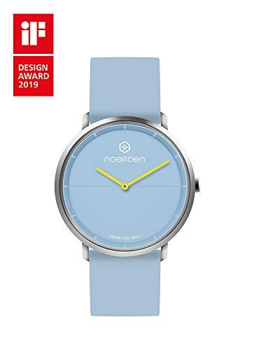Preisvergleich Produktbild NOERDEN LIFE2 - Blau - Silikon - Hybride Smart Watch - 38 mm