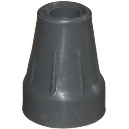 Krückenkapsel für Unterarmstütze, mit Stahleinlage 18/19mm, grau - Saugkapsel Gummipuffer