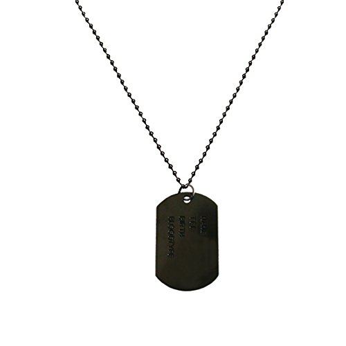 Menjewell New Collection Black Army Style Name Dog Tags Pendant For Men & Boy  available at amazon for Rs.249