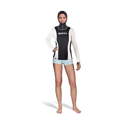 Mares Damen Tauchanzug FIRE SKIN She Dives Long Sleeve mit hood, Schwarz, M, 412848