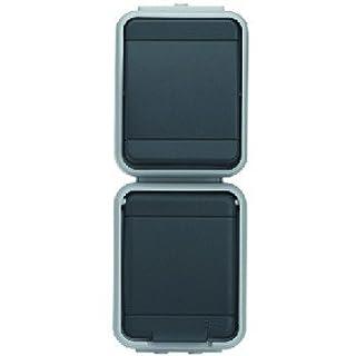 ELSO 448629 Universalschalter Aus/Wechsel und Steckdose senkrecht 10A/16A Steckklemmen AQUA-TOP lichtgrau