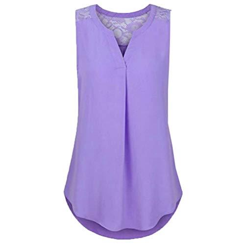 QingJiu Damen Spitze Patchwork Chiffon Floral Bluse Top Shirt Crop Tank Weste Plus Größe Hemd Sweatshirt Oberteil Wams
