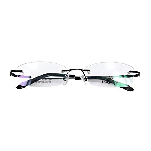 Schwarze Randlose Brillen (CUTICATE Memory Metall Randlos Lesebrille Brillen Rahmen Schwarz)