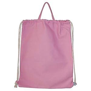 Canvas Turnbeutel mit Henkel Rohling uni rosa von Lieblingsstücke